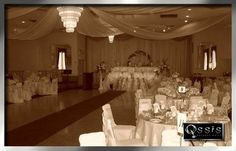 Wedding and Reception in the same room layout.