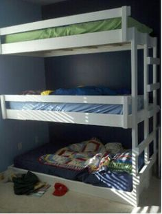 3-Tiered Bunk Bed