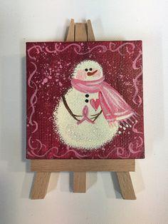 Hope (Snow)Man- A Mini Man for all Seasons ORIGINAL Mini Acrylic Painting