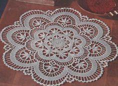 Vintage Crochet PATTERN to make Cluny Lace Doily Centerpiece Mat ClunyDoily