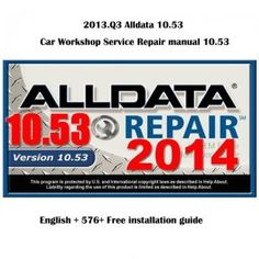 AllData 10.53 contains professional workshop service and repair manual, maintenance, wiring diagram, diagnostic, all cars & light trucks 1982-2014. ADK auto diagnostic supply Cracked Alldata 10.53 stored in 750G external hard drive.