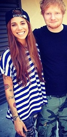 Two of my favorite people on the planet. Christina Perri & Ed Sheeran. ♡