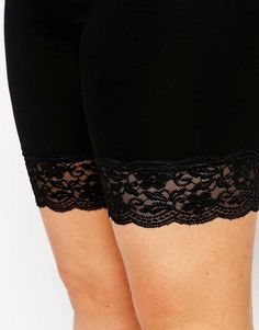 ASOS Curve | ASOS CURVE Legging Short With Lace Hem