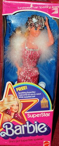 Superstar Barbie with Promotional Haircomb NRFB 1976