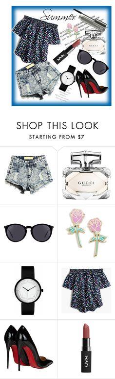 """Summer"" by hadzic-ramiza ❤ liked on Polyvore featuring Gucci, Yves Saint Laurent, Big Bud Press, J.Crew, Christian Louboutin and MAC Cosmetics"