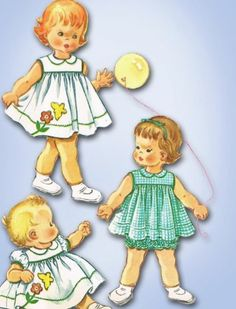 1960s Adorable Baby Dress Bloomers Pattern 1961 McCall's Sewing Pattern 6 MO | eBay