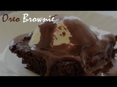 Hungry Boo - YouTube Oreo 4, Oreo Fudge, Oreo Brownies, Fudge Cake, Brownie Cake, 3 Ingredient Brownies, 3 Ingredients, Cake Recipes, Youtube