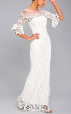 First Day Of My Life White Lace Maxi Dress @bestmaxidress