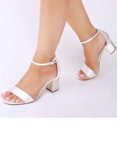 Women's Peep Toe Sandals Chunky Heel Satin Buckle Wedding Shoes When you embarked on to … Converse Wedding Shoes, Wedge Wedding Shoes, Bride Shoes, Sandals Wedding, Low Heel Sandals, Low Heel Shoes, High Heel, Shoes Sandals, Peep Toe