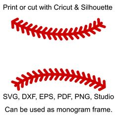 Baseball Stitches SVG Files, Baseball Laces SVG file for Cricut, Baseball Split Monogram Frame SVG files for Silhouette, Baseball Stich svg - Baseball Photos Vinyl Paper, Silhouette Cameo Projects, Silhouette Studio, Monogram Frame, Stitch Design, Svg Files For Cricut, Cricut Design, Clip Art, Baseball Signs