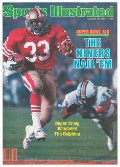 Compare prices on Roger Craig Publications and other San Francisco memorabilia. Save money on Roger Craig Publications by browsing leading online retailers. 49ers Super Bowl, Sports Illustrated Covers, Patrick Willis, Boston Bruins Hockey, 49ers Fans, Sports Magazine, Best Player, San Francisco 49ers, Football Helmets