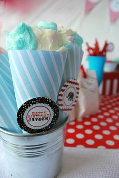 Cotton candy at a Circus Party #circus #party