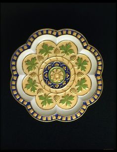 Minton plate, bone china, 1848