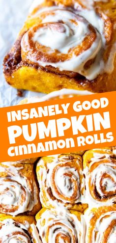 No Knead Pumpkin Cinnamon Rolls are an easy baking project your weekend needs! These are great for Thanksgiving, Christmas morning or anytime you crave the easiest, softest and all around best ever Pumpkin Cinnamon Rolls during fall! Best Cinnamon Rolls, Pumpkin Cinnamon Rolls, Baked Pumpkin, Pumpkin Pumpkin, Easy Homemade Cinnamon Rolls, Healthy Pumpkin Bread, Purple Pumpkin, Pumpkin Chocolate Chip Cookies, Best Pumpkin