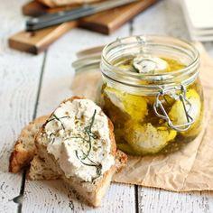 Marinated Greek Yogurt Cheese Balls (Labneh) by Anita Schecter