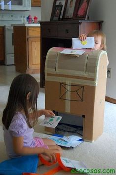 DIY mailbox for the kids. Write notes to each other & check it every week.