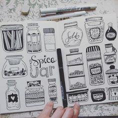 Ух))) я вернулась))) Я не люблю пропадать надолго и очень хочу дорисовать начатый проект) очень приятно когда все вместе рисуют))) а когда еще и систематично) Каждый художник себе выбирает стиль в котором будет рисовать или же просто рисует так как хочется сегодня) и это прекрасно! Мои баночки для специй #spicejar #spicejars для @creativebug @lisacongdon Wow))) I'm back))) I do not like to disappear for a long time and really want to finish the project started) very nice when all draw…