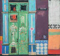 Leon Morrocco - Door in Calle Obisco (oil on canvas)