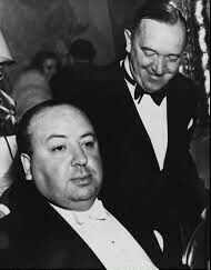 A rare photo of Laurel and Hitchcock in 1945