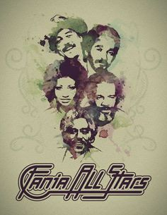 Fania All Stars: Rubén Blades, Willie Colón, Celia Cruz, Ismael Rivera, Johnny Pacheco Spanish Music, Latin Music, Disco Party, 70s Singers, Puerto Rican Music, Ruben Blades, Willie Colon, All Star, Puerto Rico History