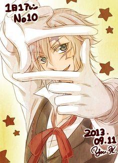 Tags: D.Gray-man, Allen Walker, White Gloves, Star Background, Fujiya, White Handwear