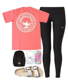 """""""coolio"""" by tabooty ❤ liked on Polyvore featuring NIKE, Birkenstock, Natasha Couture, The North Face, Lilly Pulitzer and Kendra Scott"""
