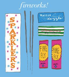 Sparklers fire fly (Illustration by Katie Evans)