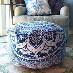 Home & Garden Furniture Energetic Bohemian Mandala Floor Cushion Ottoman Kids Play Bed Dog Bed Cover Pillow Case Elegant Appearance