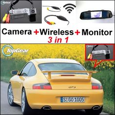 77.13$  Watch now - http://ali4ls.worldwells.pw/go.php?t=32471736465 - 3 in1 Special Rear View Camera + Wireless Receiver + Mirror Monitor DIY Parking System For Porsche 911 GT3 MK1 996 GT3 1999~2005 77.13$