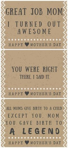30 Funny Mother's day cards - Free printables with hilarious quotes and poems! perfect fathers day gift, first time fathers day gift, fathers christmas present Funny Mother's day cards - Free printables with hilarious quotes and poems!