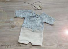 Taufbekleidung - Newborn Set Romper Haarband Prop Fotografie - ein Designerstück von Happy-BaBee bei DaWanda
