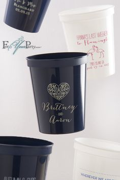 Stadium Cups 16 oz Custom Wedding Favor Let/'s Par Tee