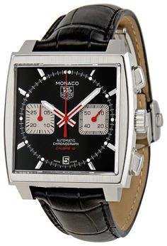 men watches Men top watches TAG Heuer Men's CAW2114.FC6177 Patent Leather Analog with Black Dial Watch