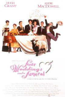 Four Weddings and a Funeral, 1994 ~ Hugh Grant & Andie MacDowell. Funny, Many Great English Actor, 1 American! Hugh Grant Is Perfect, As Always! Best Romantic Comedies, Romantic Comedy Movies, Comedy Film, Movie Film, Hugh Grant, Great Films, Good Movies, 2011 Movies, Le Talentueux Mr Ripley
