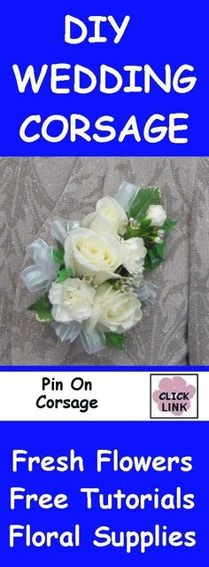 FREE FLOWER TUTORIALS    http://www.wedding-flowers-and-reception-ideas.com/make-your-own-wedding.html  How to Make a Corsage - Easy DIY Glued Method  Learn how to make bridal bouquets, corsages, boutonnieres, centerpieces and church flower decorations.  How to Make a Corsage - Pin On and Wristlet Tutorials #howtomakeweddingcandles