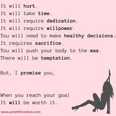 The best motivational pole dance quotes - a collection of inspirational pole dancing quotes, along with beautiful motivational images to help inspire you along your pole journey. Pole Dancing, Belly Dancing Classes, Salsa Dancing, Dancing Shoes, Pole Dance Quotes, Dancer Quotes, Pole Dance Fitness, Barre Fitness, Dance Motivation