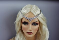forehead rhinestone headpiece | Rhinestone Forehead Headpiece , Tiara/ Halo…