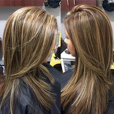 Partial foil highlights and lowlights and finished off with a soft sleek look…