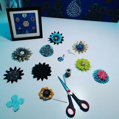 In the making of beaded flower brooches. Flower Brooch, Brooches, Etsy Seller, Weird, Give It To Me, Create, Flowers, Painting, Brooch
