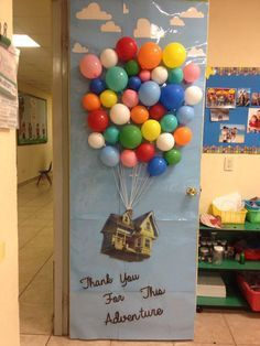 Up movie Disney Pixar Classroom door decoration & Anti Bullying Week. Door decorating competition. Up movie. Lift ... Pezcame.Com