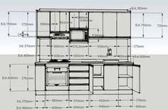 Resultado de imagen para dimensões de armarios de cozinha