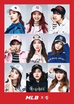 TWICE model for MLB's 2017 Spring collection http://www.allkpop.com/article/2017/03/twice-model-for-mlbs-2017-spring-collection