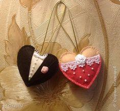 Поделка изделие Валентинов день Шитьё Валентин и Валентина Кружево Фетр фото 1