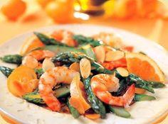 Aspergesalade met garnalen en sinaasappel recept - Vis - Eten Gerechten - Recepten Vandaag