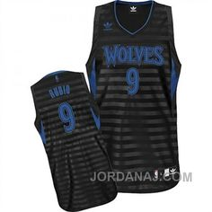 6590990ad79 ... Timberwolves 9 Ricky Rubio BlackGrey Groove Embroidered NBA Jersey!  Only 25.50USD Cheap NBA Jerseys ...