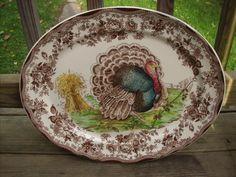 Clarice Cliff turkey platter