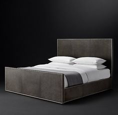 Leather Beds | RH Modern