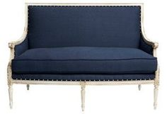 "Oakridge 56"" Settee, Navy 