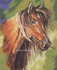 Buy Mustang Cross Stitch Kit Online at www.sewandso.co.uk