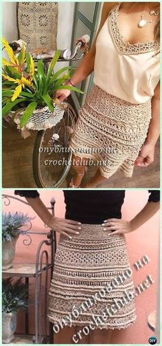 Crochet Fall Skirt Free Pattern - Crochet Women Skirt Free Pattern
